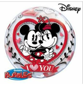 Mickey & Minnie I Love You Szerelmes Bubbles Lufi
