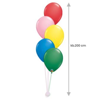 Héliumos Luficsokor 5 db Standard 28 cm-es  Lufiból, Lufinehezékkel