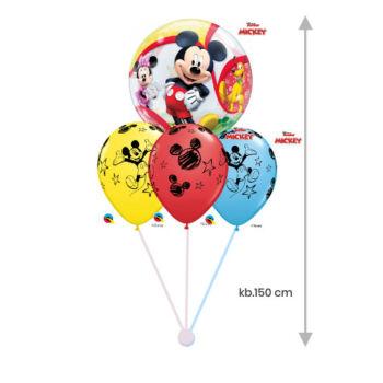 Héliumos Luficsokor - Mickey - 1 Buborék + 3 db 28cm-es gumi lufi