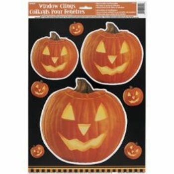 Halloween Ablakdekoráció - Világító Tök Mintás