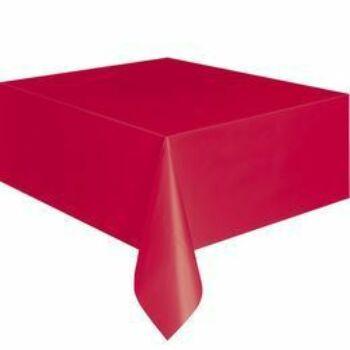 Asztalterítő - Piros Műanyag - 137 cm x 274 cm