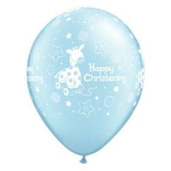 Gumi Lufi - Keresztelő - Happy Christening Felirattal kék - 28cm