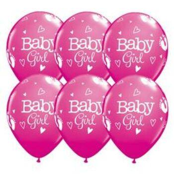 Gumi Lufi - Babaszületés - Lábnyom Mintás Rózsaszín - 28cm