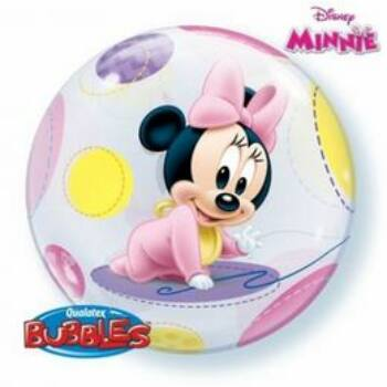 Baby Minnie Bubbles Léggömb Babaszületésre