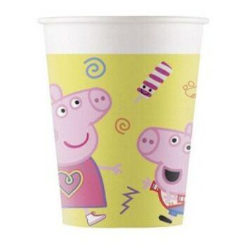 Peppa Pig Papír Parti Pohár - 8 db-os