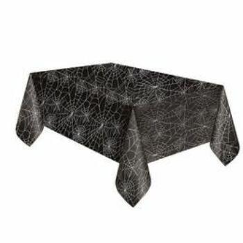Asztalterítő - Fekete Pókháló Mintás