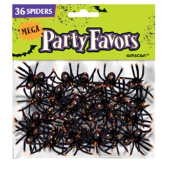 Dekorációs Pókok Halloweenre - 36 db-os