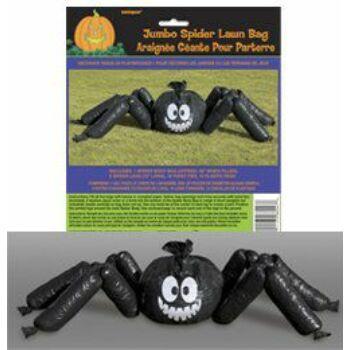 Pók Alakú Kitömhető Zsák Dekoráció Halloweenre