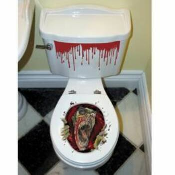 WC Dekoráció Halloweenre