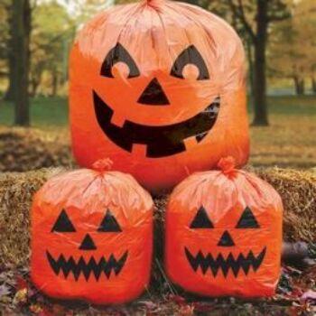 Tökfejes Zacskók Dekoráció Halloweenre, 3 db-os