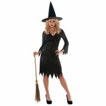 Női Boszorkány Jelmez Halloween-re, M-es
