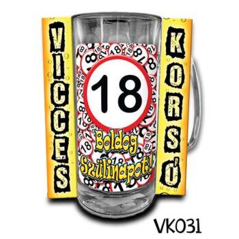 Korsó - Vicces - Boldog 18. Szülinapot