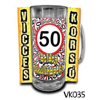 Korsó - Vicces - Boldog 50. Szülinapot - 3dl