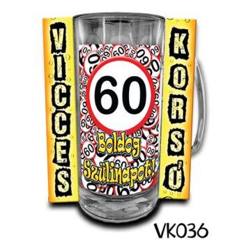 Korsó - Vicces - Boldog 60. Szülinapot - 3dl