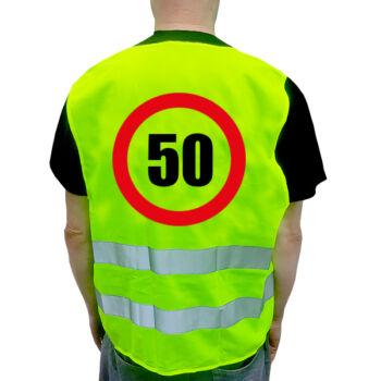 Szülinapi Láthatósági Mellény - 50.