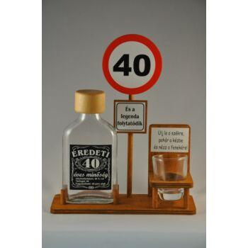 Laposüveg Táblával 40. Szülinapra