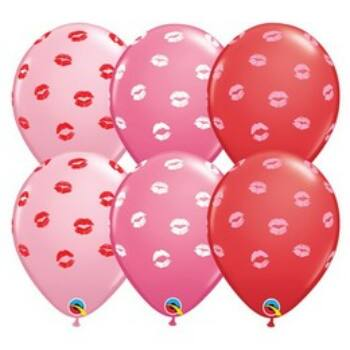 Gumi Lufi - Csomag - Csókok - Kissey Lips Piros Pink Rose - 6db - 28 cm