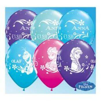 Gumi Lufi - Mintás - Disney Jégvarázs - Anna, Elsa És Olaf - 28 cm