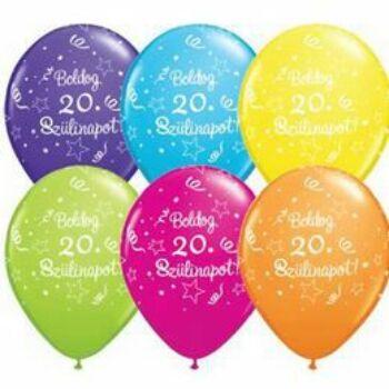 Gumi Lufi - Szülinapi - Boldog 20. Szülinapot 6db /csomag