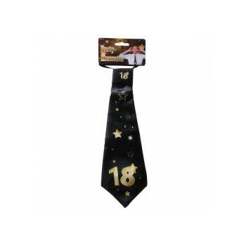 Nyakkendő - Arany-Fekete 18. Születésnapra, 32x11 Cm