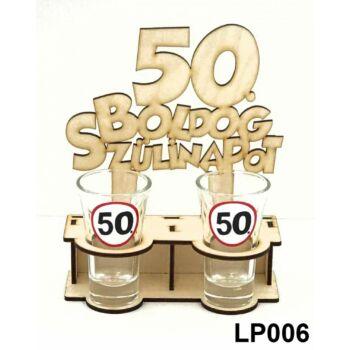 Pálinkás Pohár Szett - Boldog 50. Szülinapot 2db 5cl