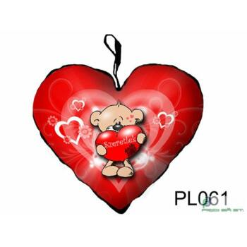 Díszpárna szív - Maci Szeretlek