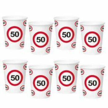 Sebességkorlátozó Számos Szülinapi Papír Parti Pohár 50.- 250 ml, 6 db-os