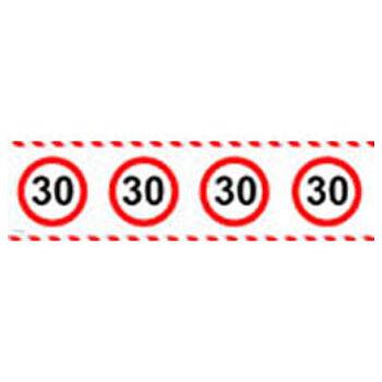 Számos Sebességkorlátozó Szülinapi Parti Szalag 30.- 15 m