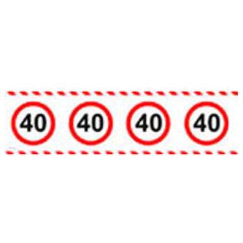 Számos Sebességkorlátozó Szülinapi Parti Szalag 40.- 15 m