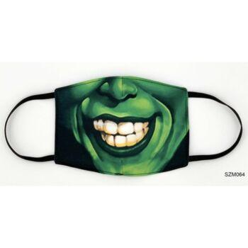 Vicces Szájmaszk - Zöld maszk