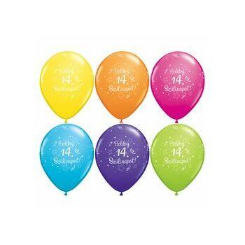 Gumi Lufi - Szülinapi - Boldog 14. Szülinapot 6db /csomag