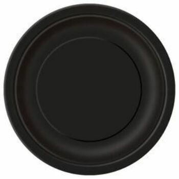 Papír Tányér - Egyszínű Fekete - 23 cm