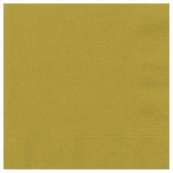 Egyszínű Szalvéta - Arany 33 cm x 33 cm, 20 db-os
