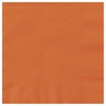 Egyszínű Szalvéta - Narancssárga - 33 cm x 33 cm, 20 db-os