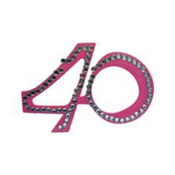Parti szemüveg - Rózsaszín 40-es Számos Szülinapi