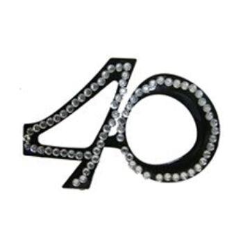 Parti szemüveg - Fekete 40-es Számos Szülinapi