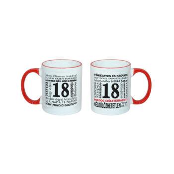 18. szülinapi ajándék - Bögre