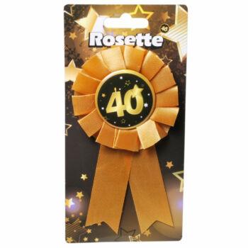 Kitűző - Fekete Arany - 40. Születésnapi Szalagos