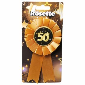 Kitűző - Fekete Arany - 50. Születésnapi Szalagos