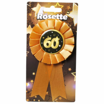 Kitűző - Fekete Arany - 60. Születésnapi Szalagos