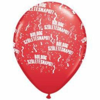 Gumi Lufi - Boldog Születésnapot Piros - 28cm