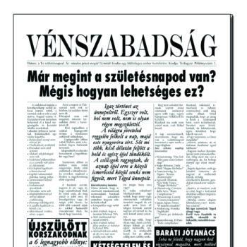 Újság - Vénszabadság