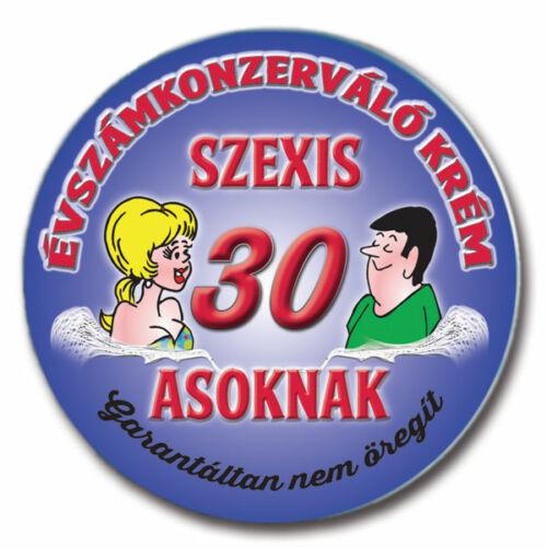 97d92abd3c Évszámkonzerváló Krém - 30 - 30. szülinapra - Party Kellék - Lufik ...