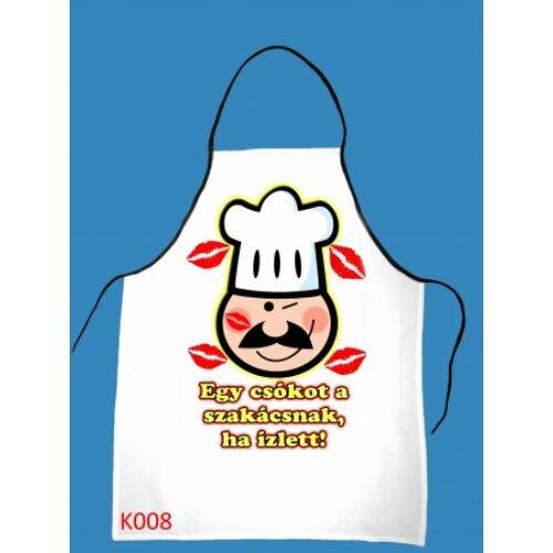 0a8fda5faa Kötény Egy csókot a szakácsnak ha ízlett! - TRÉFÁS KÖTÉNYEK - Party ...