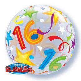 16 éves szülinapi köszöntő Héliumos Szülinapi Számos Bubble Lufi   16.   Számos Bubbles  16 éves szülinapi köszöntő